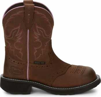 Justin JUGY9980 Wanette, Women's, Brown, Steel Toe, EH, Pull On Boot