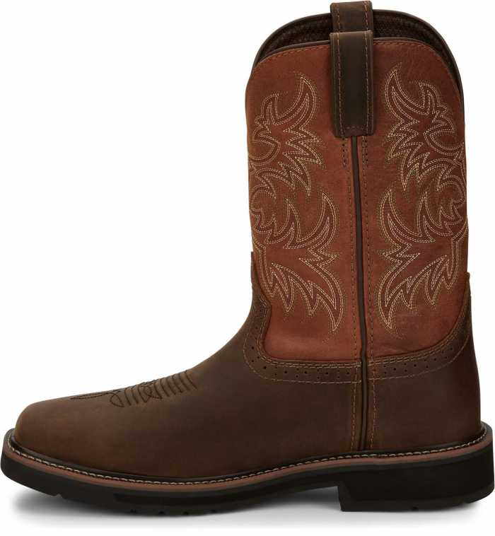 Justin JUSE4812 Switch, Men's, Brown, Comp Toe, EH, 11 Inch Boot