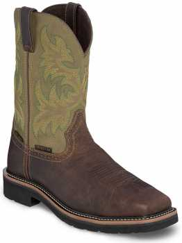Justin JUWK4570 Keavon, Men's, Brown, Steel Toe, EH, Mt, WP Pull On