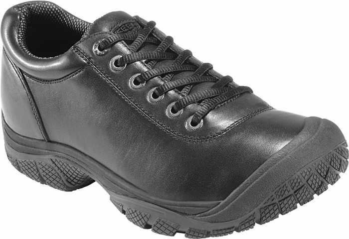 KEEN Utility KN1006981 Men's Black Soft Toe, Slip Resistant PTC Oxford