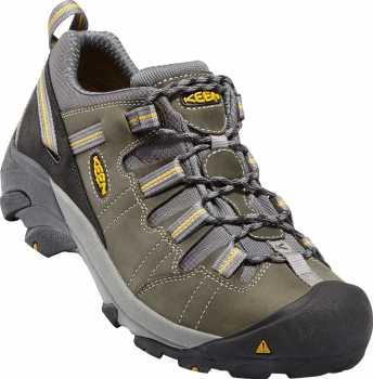 Keen Utility KN1007013 Detroit, Men's, Black/Green, SD, Soft Toe Low Hiker Work Shoe