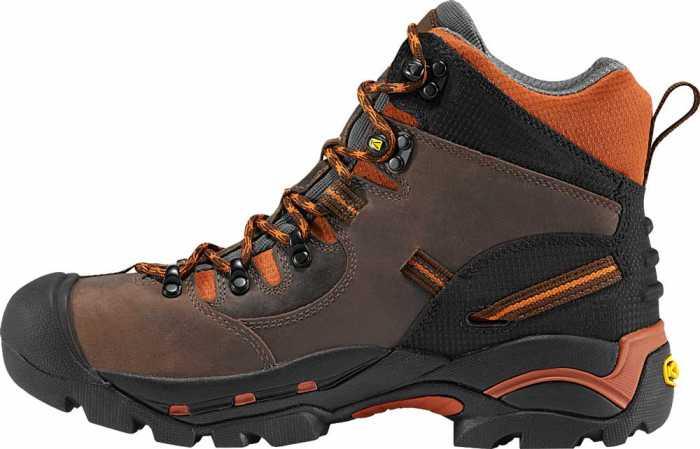 KEEN Utility KN1009709 Pittsburgh, Cascade Brown/Bombay Brown, Men's, Soft Toe, Waterproof Hiker