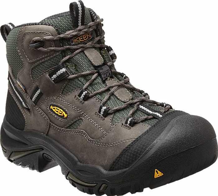 KEEN Utility KN1011243 Braddock Men's, Gargoyle/Forest Night, Steel Toe, EH, Waterproof Hiker