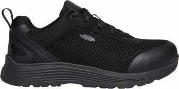 KEEN Utility KN1023211 Sparta, Women's, Black, Aluminum Toe, EH, Low Athletic