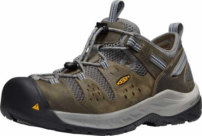 KEEN Utility KN1023217 Atlanta Cool II, Men's, Gargoyle/Midnight Navy, Steel Toe, SD, Low Hiker