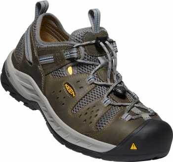 KEEN Utility KN1023217 Atlanta Cool II, Men's, Gargoyle/Midnight Navy, Steel Toe, SD, Low Hiker