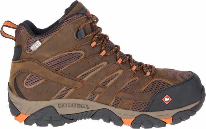 Merrell MLJ11617 Moab Vertex, Men's, Clay, Comp Toe, EH, WP Hiker