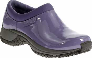 Merrell MLJ22284 Encore Moc Pro Shine, Women's, Periwinkle, Soft Toe, Slip Resistant Slip On