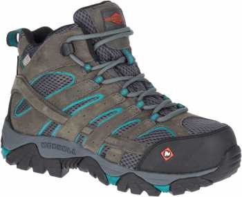 Merrell MLJ42076 Moab Vertex, Women's, Pewter, Comp Toe, EH, WP Hiker