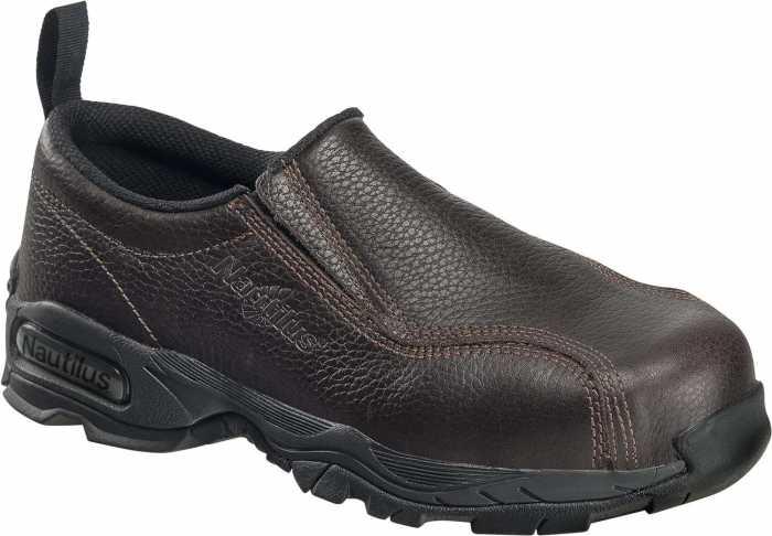 Nautilus N1620 Men's, Brown, Steel Toe, SD, Twin Gore Slip On