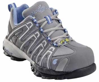 Nautilus 4391 Women's Grey/Blue Nonmetallic, Soft Toe, Static Dissipative, Low Athletic