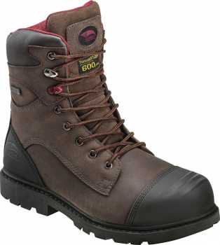 Avenger N7573 Men's, Brown, Nano Toe, EH, PR, WP/Insulated, 8 Inch