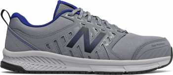 New Balance NBMID412G1 Men's, Grey/Royal Blue, Alloy Toe, Slip Resistant Athletic