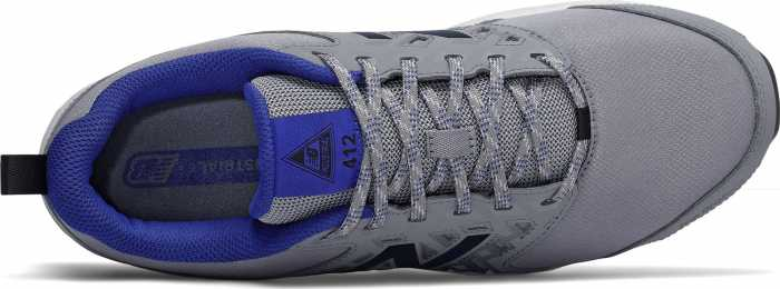 New Balance NBMID412G1 Men's, Grey/Royal Blue, Alloy Toe, Slip Resistant Athletic