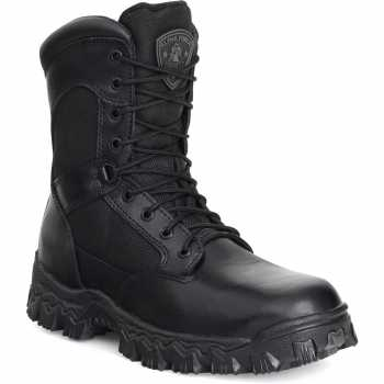 Rocky 2173 Black Waterproof, Uniform, Soft Toe, Side Zipper Boot