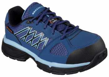 Skechers SK76586NVBL Conroe-Kriel Women's, Navy/Blue, Alloy Toe, SD, Sport Oxford