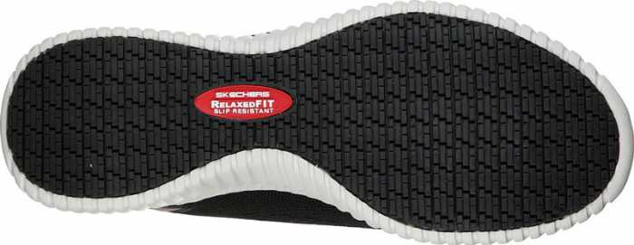 SKECHERS Work SK77188BKW Cessnock, Men's, Black/White, Soft Toe, EH, Slip Resistant Casual