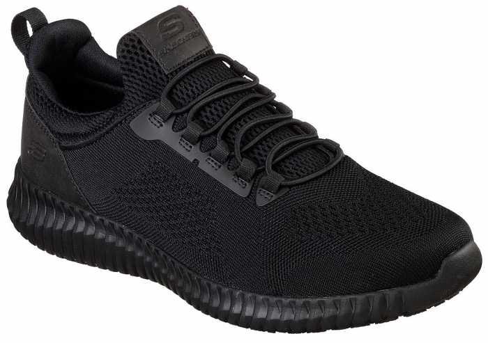 SKECHERS Work SK77188BLK Cessnock, Men's, Black, Soft Toe, EH, Slip Resistant Casual