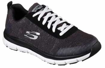 SKECHERS Work Work SK77217BKW Black/White Comfort Flex Pro HC Soft Toe, Slip Resistant Women's Athletic