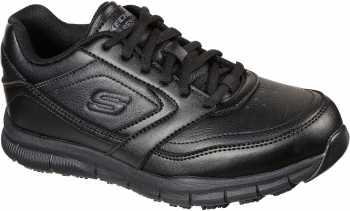SKECHERS Work SK77235BLK Nampa-Wyola, Women's, Black, Soft Toe, EH, Slip Resistant Athletic