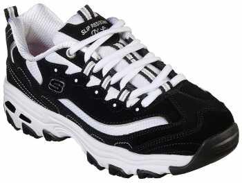 SKECHERS Work SK77263BKW D'Lites, Women's, Black/White, Soft Toe Athletic