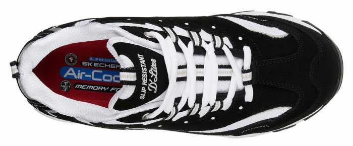 SKECHERS Work SK77264 D'Lites Lankoe, Women's, Black/White, Alloy Toe, EH Athletic