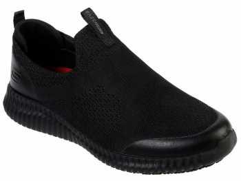 SKECHERS Work SK77501BLK Cessnock-Colleton, Men's, Black, Soft Toe, EH, Slip Resistant Casual