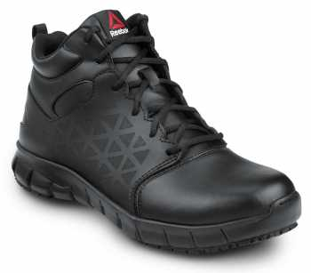 Reebok SRB3204 Sublite Cushion Work, Black, Men's, Slip Resistant Mid Athletic