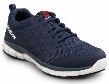 Reebok Work SRB3205 Sublite Cushion Work, Navy, Men's, Athletic Style Slip Resistant Soft Toe Work Shoe