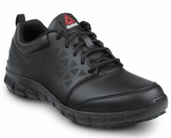 Reebok SRB3206 Sublite Cushion Work, Men's, Black, Comp Toe, EH, Slip Resistant Athletic