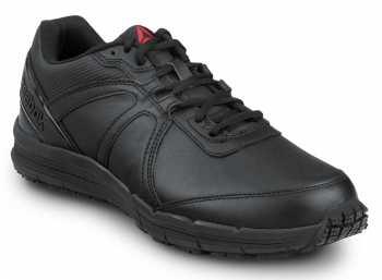 Reebok Men's Black, Soft Toe, Slip Resistant, Low Athletic