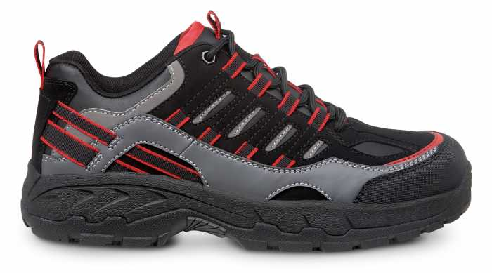SR Max SRM4600 Boone, Men's, Black/Grey, Low Hiker Style Comp Toe, EH, Slip Resistant Work Shoe