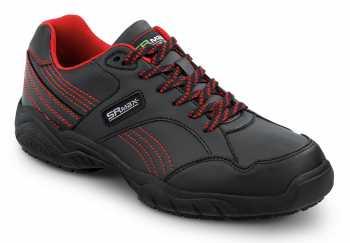 SR Max SRM611 Corbin, Women's, Black/Red Athletic Style Soft Toe Slip Resistant Work Shoe