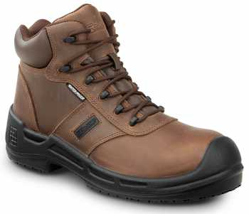 SR Max SRM9110 Cascade, Men's, Brown, Soft Toe, Slip Resistant, WP, 6 Inch Boot