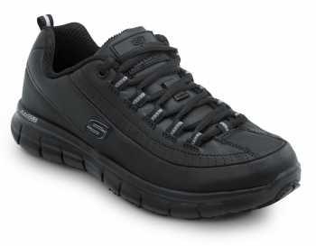 SKECHERS Work SSK403BLK Sara Black Soft Toe, Slip Resistant, Low Athletic