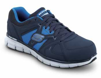Skechers SSK606NVBL Men's Black Blue Athletic Aluminum Alloy Electric Hazard Slip Resistant