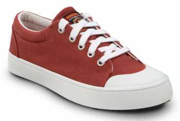 SKECHERS Work SSK8041RDW Kendall Red/White, Women's, Soft Toe, Slip Resistant Skate Shoe