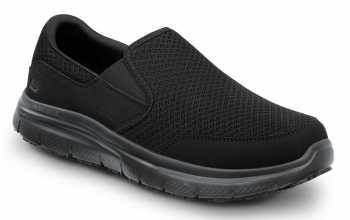 Skechers SSK8175BLK Ella Women's Black, Soft Toe, MaxTrax Slip Resistant, Slip-on Athletic