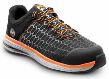 Timberland PRO STMA21AV Powerdrive, Men's, Black/Orange, Comp Toe, EH, MaxTRAX Slip Resistant Low Athletic