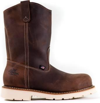Thorogood TG804-4372 Men's, Brown, Steel Toe, EH, 11 Inch Wellington