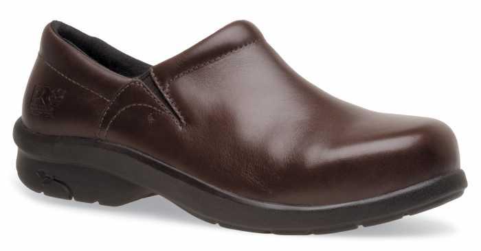 Timberland PRO TM85599 Brown, Women's, Newbury Slip Resistant, SD, Alloy Toe Slip-On
