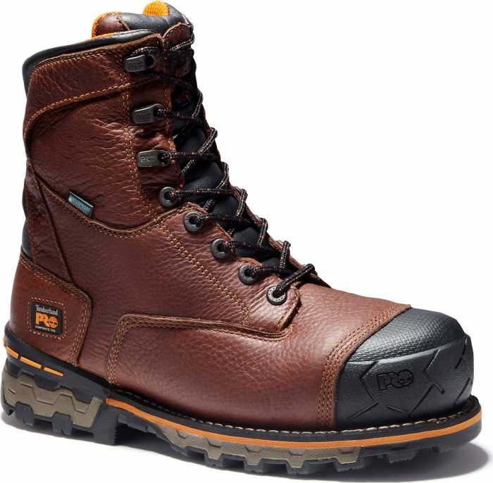 Timberland PRO Boondock, Men's, Brown, Comp Toe, EH, WP, 8 Inch Boot