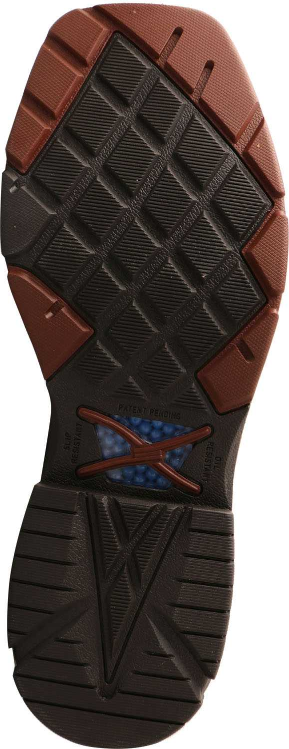 Twisted X TWMXBAW01 Men's, Mocha/Navy, Alloy Toe, EH, 12 Inch, Pull On Boot