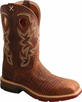 Twisted X TWMXBN001 Men's, Tan/Tan, Nano Toe, EH, 12 Inch, Pull On Boot