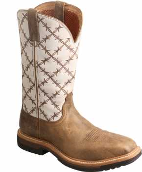 Twisted X TWWLCA001 Women's, Bomber/White, Alloy Toe, EH, Western, Work Pull On Boot