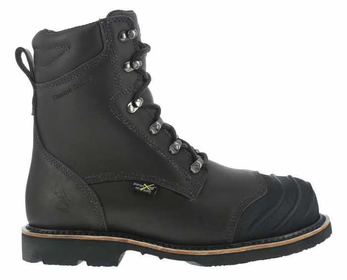 Iron Age WGIA0120 Men's Black, Comp Toe, EH, Internal Met Guard, 8 Inch, Smelter's Boot