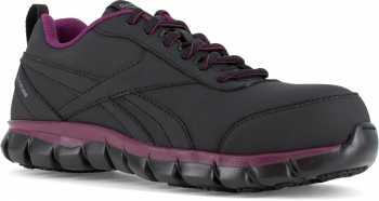 Reebok Work WGRB055 Sublite Cushion Work, Women's, Black/Plum, Comp Toe, SD Athletic