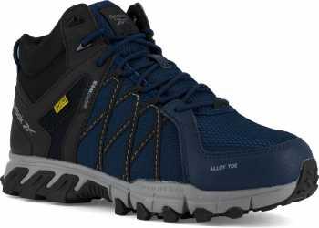 Reebok Work WGRB3400 Trailgrip, Men's, Navy/Black, Alloy Toe, EH, Mt, Mid High Athletic