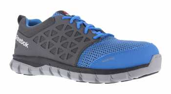 Reebok Work WGRB4040 Unisex Blue/Grey, XTR Alloy Toe, SD, Sublite Athletic Oxford