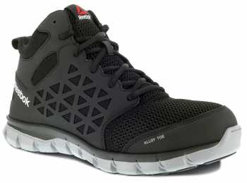 Reebok Work WGRB4141 Sublite Cushion Work, Men's, Black, Alloy Toe, SD Midheight